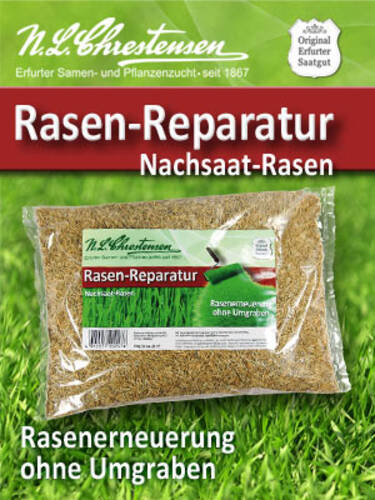 Rasen Reparatur Nachsaat Rasen Rasensamen Und Tiergraser