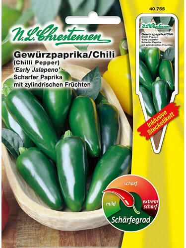 Samen - Gewürzpaprika/Chili Early Jalapeno