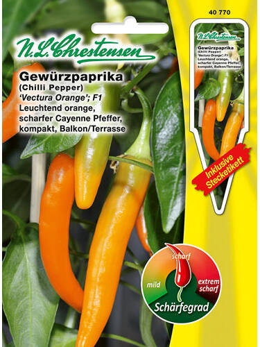 Samen - Gewürzpaprika Vectura Orange F1