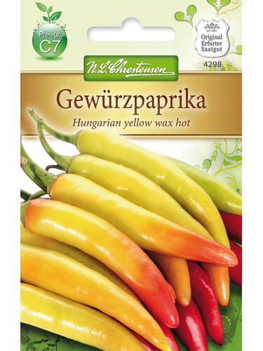 Samen - Gemüsepaprika Hungarien yellow wax hot