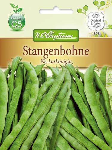 Stangenbohne Neckargold 105190 Saatgut Bohnen Hülsenfrüchte Gemüse Samen