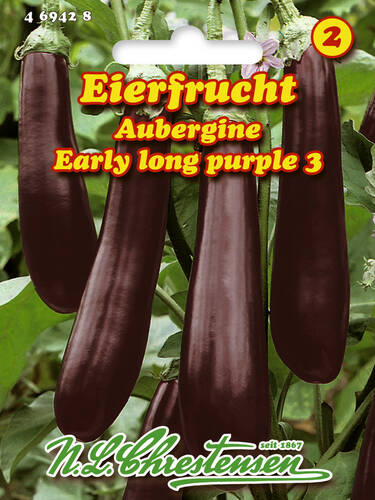 Samen - Aubergine Early Long Purple 3