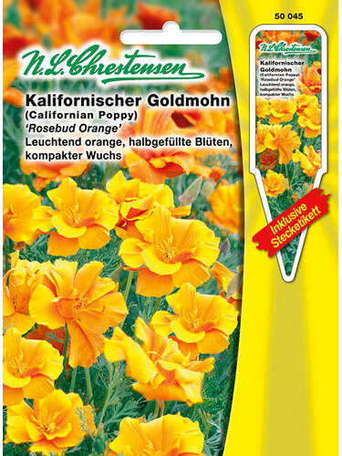Samen - Goldmohn Rosebud Orange