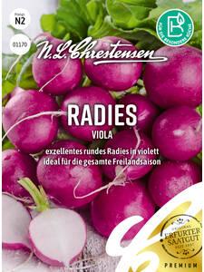Radies /'Erfurter Riesenrot /' Pelzresistent Saatband  Samen 40523
