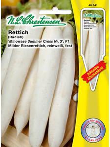 Rettich /'Runder weißer/' weiß sehr früh glattschalig  Samen 40538